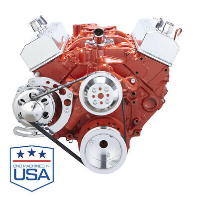 Chevy Small Block Serpentine Conversion - Alternator Long Water Pump 283 350 Sbc