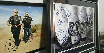 Lot Of 2 - Sons Of Anarchy X16 Cast Signed Pic X 2+ W/ Coa