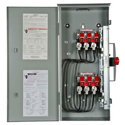 Double Throw 100 Amp 600 Volt Outdoor Non Fusible Safety Switch Nema Type 3r