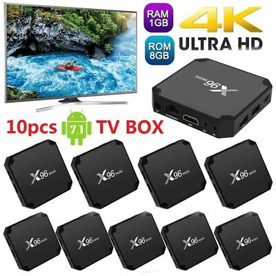 10x X96 Mini Android7.1.2 Tv Box Amlogic S905w Quad Core Vp9 Hdr 8g Wifi Hd W4r7