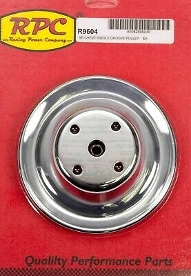 Chrome Steel Water Pump Pulley Long Sbc 6.3 Dia Racing Power Co-packaged R9604