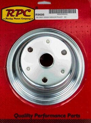 Chrome Steel Crankshaft Pulley 1groove Long Wp Racing Power Co-packaged R9606