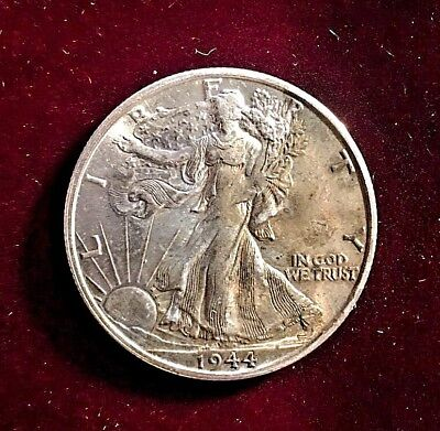 1944-s Walking Liberty Half Dollar Mint State 66+ 67proof Like With Great Luster