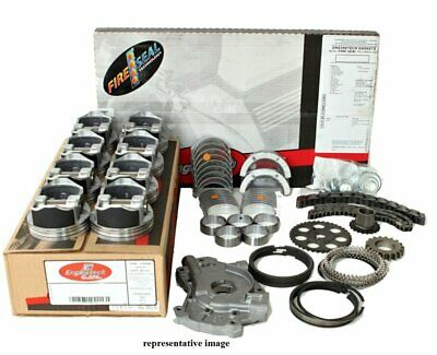 Enginetech Rcc427cp Engine Rebuild Overhaul Kit Pistons Moly Rings Gaskets