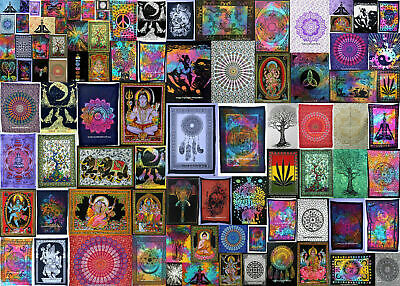 Wholesale Lot Indian Mandala Poster Tapestry Home Deco Throw Cotton Wall Hanging