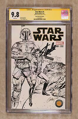 Star Wars #1 Campbell Cargo Hold Sketch Variant Cgc 9.8 Ss 2015 1322634011
