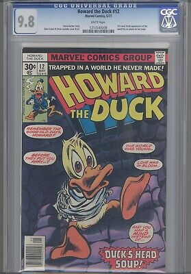 Howard The Duck 12 Cgc 9.8 1977 Marvel Comic:1st App The Band, Kiss, In Comics