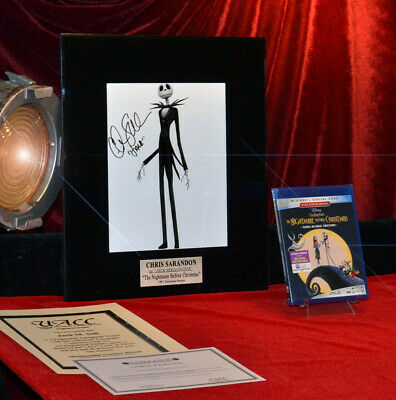 "Signed ""nightmare Before Christmas"" Chris Sarandon Autograph, Coa, Frame, Dvd"