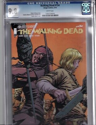 The Walking Dead Comic #154 Cgc 9.8 1355729016. Led To Slaughter. White Pages.