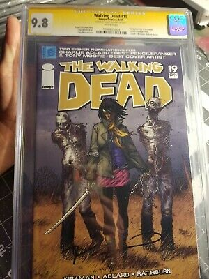 Walking Dead #19 9.8 Cgc Ss Signed By Robert Kirkman