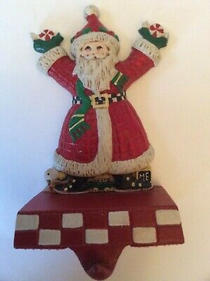 Midwest Importers Of Cannon Falls Mary Engelbreit Vtg Metal Santa Stocking Hook