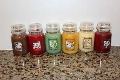 Yankee Candle Cookie Swap Collection~set Of 6 Large 22 Oz Classic Jar Candles~