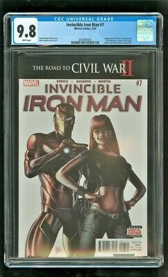 Cgc 9.8 Invincible Iron Man #7 Marvel Comics 2016 1st Tomoe Riri Williams (a)