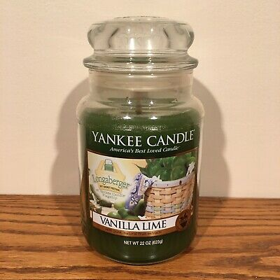Yankee Candle Vanilla Lime 22oz Large Jar 2011 Longaberger Basket Festival