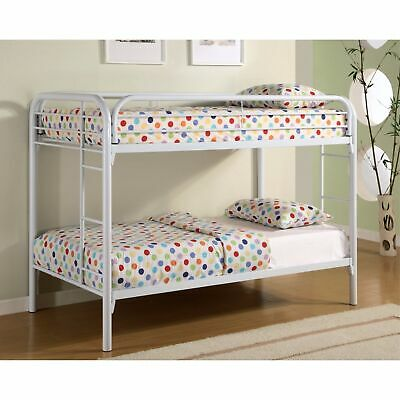 Simply Stylish Twin Over Twin Bunk Bed With Built-in Ladders, White