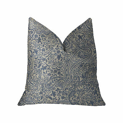 Plutus Kingston Waverly Blue And Ivory Luxury Throw Pillow - Double Sided  22...