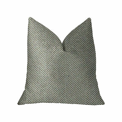 """Plutus Jordyn Green And Gold Luxury Throw Pillow - Double Sided  20"""" X 36"""" King"""