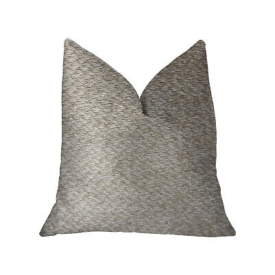 """Plutus Crme Brulee Beige Luxury Throw Pillow - Double Sided  22"""" X 22"""""""