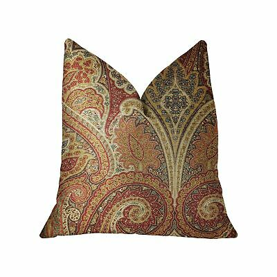 "Plutus Monarch Serenade Multicolor Luxury Throw Pillow - Double Sided  26"" X 26"""