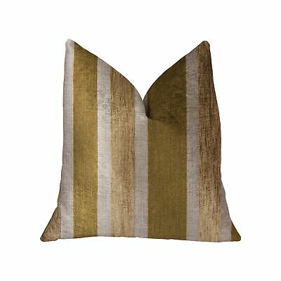 "Plutus Golden Tan Lines Gold Luxury Throw Pillow - Double Sided  26"" X 26"""