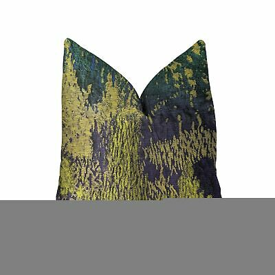 Plutus Emerald Rainforest Green, Yellow And Blue Luxury Throw Pillow - Double...