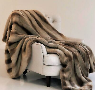 Plutus Sheared Faux Chinchilla Luxury Throw 60w X 96l