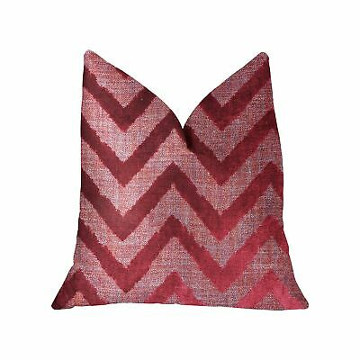 """Plutus Valentina Red Luxury Throw Pillow - Double Sided  20"""" X 26"""" Standard"""