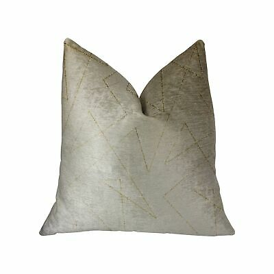 """Plutus Gold Divinity Gold And Beige Luxury Throw Pillow - Double Sided  20"""" X..."""