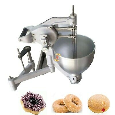 7.5l Commercial Manual Doughnut Maker Flower Ring Ball Donut Machine 3 Molds