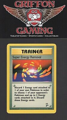 Pokemon Unlimited Base Set 2 Super Energy Removal 108/130 Rare Trainer LP