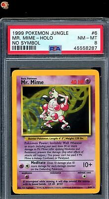 Mr.Mime No Symbol 1999 WOTC Pokemon Card 6/64 Jungle Set PSA 8 NM - MT