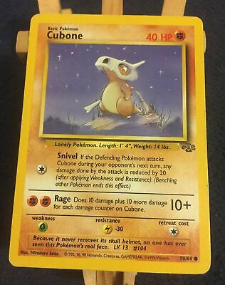 Cubone 50/64 - Pokemon Card - Jungle Near Mint Condition