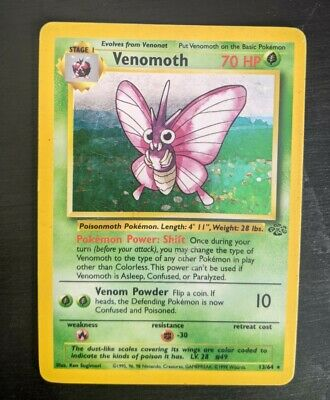 Venomoth 13/64 Holo Jungle Set Pokemon Card Great Condition