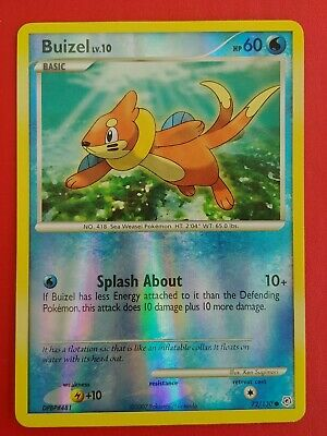 Pokemon Card Buizel LV.10 Diamond & Pearl 72/130 EXCELLENT Reverse Holo Common!!