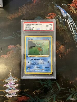 1999 Pokemon Fossil 1st Edition Horsea #49 PSA 10 GEM MINT