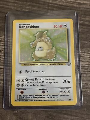 Kangaskhan Jungle 5/64 Holo Foil Unlimited Pokemon Card holographic
