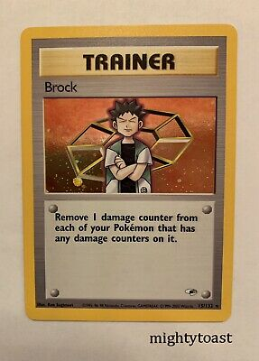 Pokemon Gym Heroes Unlimited - Trainer Brock 15/132 Holo Rare - NM