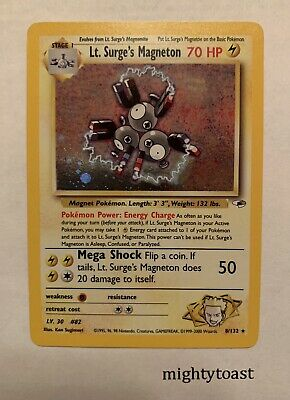 Pokemon Gym Heroes Unlimited - Lt. Surge's Magneton 8/132 Holo Rare - NM