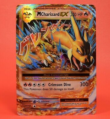 Pokemon TCG English Card Flashfire Holo Rare M Charizard EX 13/106