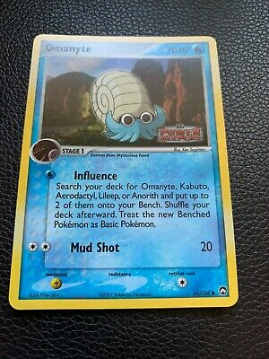 Pokemon Omanyte Reverse Holo EX Power Keepers 56/108 Near Mint Stamped