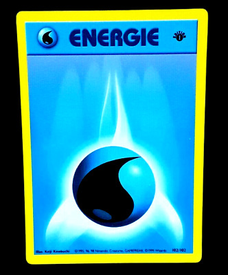 Pokemon Card - 1st Edition Water Energie Energy (56/102) French Base Set ***NM**