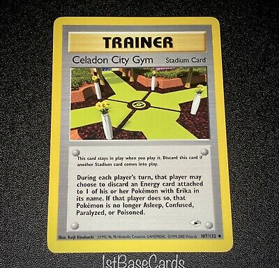Celadon City 107/132 Trainer 2000 Gym Heroes Unlimited Pokemon Cards NM*