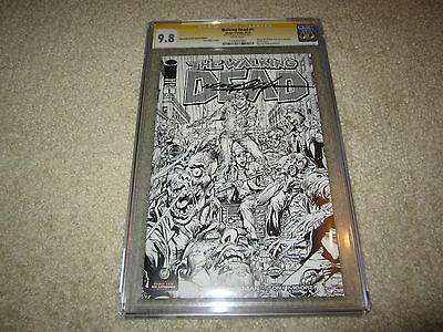 Cgc Walking Dead #1 Ss 9.8 Signed By Neal Adams Rare Sketch Variant Wizard Nyc!!