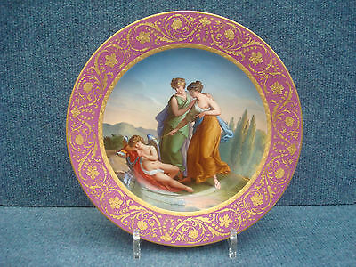 "Royal Vienna Porcelain Plate""amor & Nymphes"" 1800-1849 Date Code (18)06"