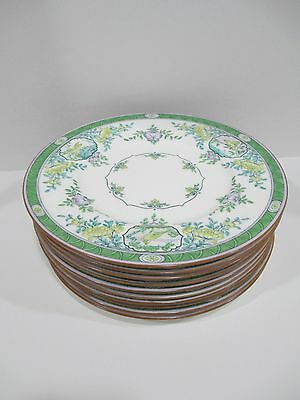 Rare Colored Minton Japonica 10 Dinner Plates B889 Rdno 621111 (year 1915)