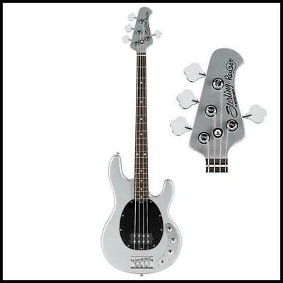 Sterling By Music Man Ray34ca Classic Active Electric Bass Guitar Silver Metalli