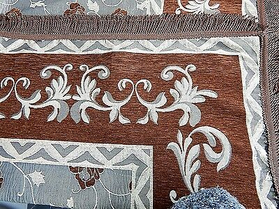 King Brown Bedspread Sofa Cover Throw Rug Blanket Couch Decor Coffee +2 Pillow