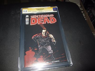 Rare Walking Dead #100 Extremely Rare 2nd Print Cgc 9.8 Signed By Robert Kirkman