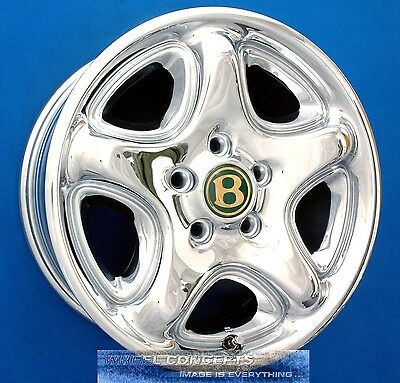"Bentley Arnage 17 Inch Chrome Wheels Rims 17"" Factory Oem Green Label"
