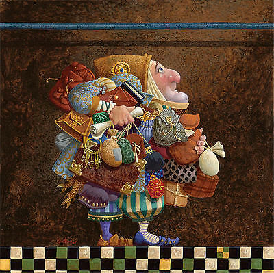 Hold To The Rod Canvas 12x12 James Christensen  S/n W/coa  Hard To Find